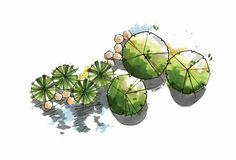 Tree Plan Sketch 59 Ideas For 2019 Croquis Architecture, Landscape Architecture Drawing, Landscape Design Plans, Landscape Sketch, Architecture Graphics, Landscape Drawings, Rendering Architecture, Architecture Diagrams, Architecture Portfolio