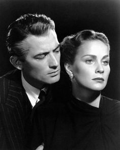 Gregory Peck and Alida Valli, publicity shot for The Paradine Case (Alfred Hitchcock, 1947)