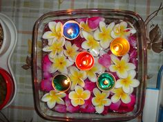jelly..colourful..floating candles..