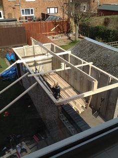 Wall pan on Garage Roof, Flat Roof, Garage Ideas, Plates On Wall, Concrete, Restoration, Shed, Woodworking, Gardens