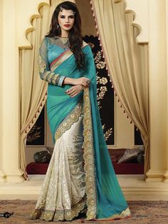 sari freeship Ethnic Bollywood Indian new designer embroidery unstitched blouse