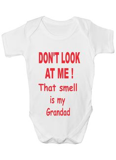 5f8921e16c50 Don't Look At Me Funny Babygrow Babies Gift Boy Girl Vest Babies Clothing: