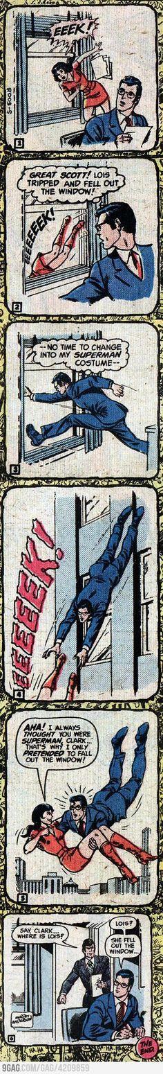 Lois Lane finds out Clark is Superman. who doesn't think that's very funny. Lois Lane, Superman, Batman, Comic Art, Comic Books, Dc Memes, Comic Panels, Detective Comics, Funny Comics