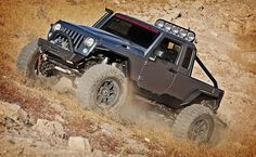 hauk jeep river raider, combining a hemi, full roll cage, and more