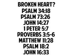 Broken Heart Scriptures                                                                                                                                                                                 More