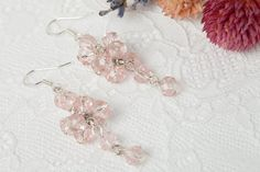 Hey, I found this really awesome Etsy listing at https://www.etsy.com/listing/235283822/light-pink-crystal-wedding-earrings
