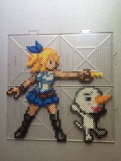 Lucy Heartfilia and Plue - Fairy Tail perler beads by TehMorrison