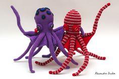 Вязаные игрушки от Александры Simba. Crochet Whale, Crochet Octopus, Crochet Animals, Crochet Toys, Knit Crochet, Fish Patterns, Baby Patterns, Amigurumi Patterns, Amigurumi Doll