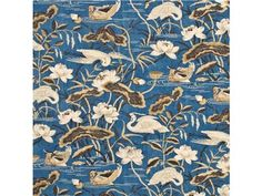 G P & J Baker HERON & LOTUS FLOWER COBALT/CHOCOLATE BP10308.1 - Lee Jofa New - New York, NY, BP10308.1,Lee Jofa,Print,0024,Blue, Brown,Brown, Blue,S (Solvent or dry cleaning products),UFAC Class 2,Up The Bolt,United Kingdom,Floral Large,Drapery,Yes,G P & J Baker,No,HERON & LOTUS FLOWER COBALT/CHOCOLATE