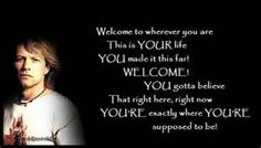welcome to wherever you are bon jovi lyrics