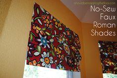 no sew faux roman shade (HoH98)
