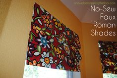 no sew faux roman shade (HoH98)
