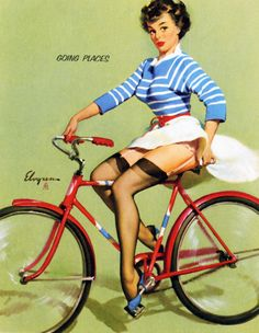 """Going Places"" byGil Elvgren1959"