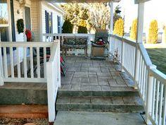 concrete front porch - Google Search
