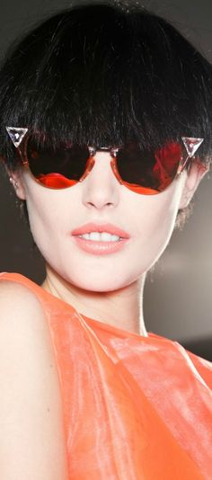 Rose tinted glasses - Fendi sunglasses ~ SS14 #ss14 #fendi #accessories #eyewear #sunglasses