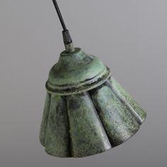 Shop for Pendant Lamp Navigator Antique Green online! World Of Color, Vintage Lighting, Pendant Lamp, Decorative Bells, Vintage Inspired, Vintage Fashion, Colour, Antiques, Green