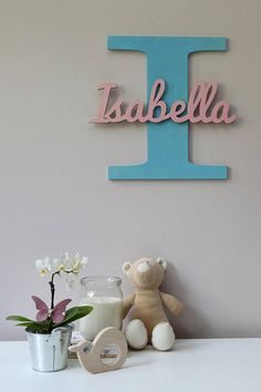 Wooden Letters, Baby Nursery Wall Hanging Letters in Script Font, Baby Name Sign, Kids Room Decor, Wood Letters Hanging Letters, Wood Letters, Kids Letters, Diy And Crafts, Crafts For Kids, Cute Furniture, Baby Name Signs, Cnc Projects, Baby Decor