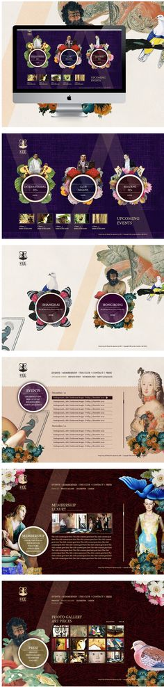 We love the incorporation of actual museum artwork - it gives this museum website an edgy, modern feel!