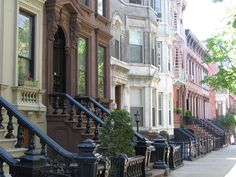 Beautiful brownstone homes in Greenpoint, Brooklyn.