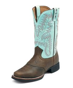 Take a look at this Bay Apache AQHA Foundation Cowboy Boot - Women by Justin Boots on #zulily today!