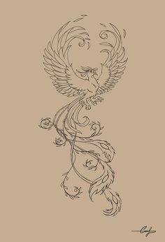 """the phoenix, actually spelled """"phenix"""" in middle english, is a greek mythological creature that represents rebirth. it is reborn from its ashes when it dies. it is a symbol adopted by early christianity (resurrection). <3:"""