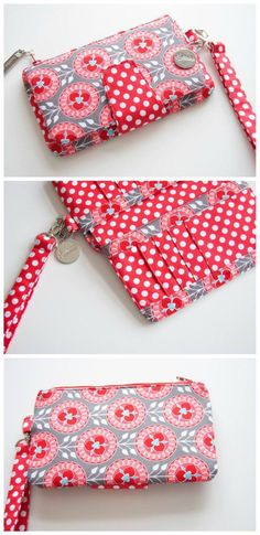 Swoon Pearl Wallet sew-along video VIDEO – how to sew the Pearl Clutch Wallet bag sewing pattern from Swoon. Video tutorial and lots of inspiring examples of the clutch here. Sew Wallet, Fabric Wallet, Fabric Bags, Clutch Wallet, Fabric Scraps, Sewing Projects For Beginners, Sewing Tutorials, Sewing Hacks, Sewing Crafts