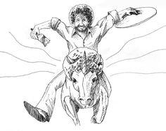 Bob Ross Even Rides Unicorns