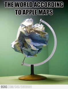 The World according to iOS 6 Maps