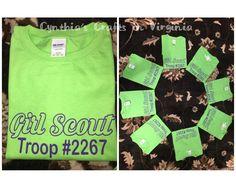 Custom Girl Scout T-Shirts  #girlsouts #camptshirts#screenprinting #sports #tshirts #gscamp #gstroop #girlscouttroop #custommade #cynthiascraftsinvirginia #shoplocal #woodbridgeva