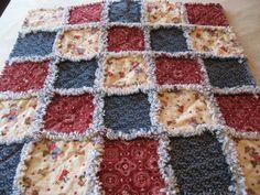 Western Cowboy Teddy Bear Baby Boy Rag Quilt Blanket 36x36. $35.00, via Etsy.
