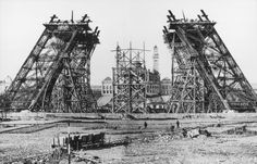 Construction of the Gustave Eiffel Tower, for the c.1889, Paris World's Fair. ~ {cwlyons} ~ (Original Image: Collection Tour Eiffel)