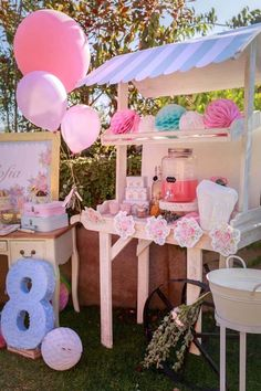 Whip up some birthday inspiration with this Kara's Party Ideas featured Shabby Chic Bakery Birthday Party. Unicorn Birthday Parties, Unicorn Party, 21 Birthday, Shabby Chic Unicorn, Candy Display, Display Ideas, American Girl Birthday, Candy Bar Party, Baking Party