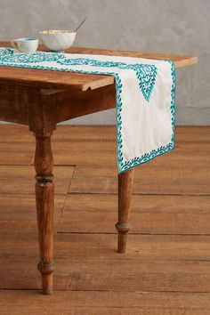 "Bahia Embroidered Table Runner - 16"" x 90"" - anthropologie.com :: $88"