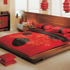 Oriental Bedroom Design - Today many architectural styles evolved, the oriental style became one of the much-loved design. Home Bedroom, Asian Style Bedrooms, Bedroom Design, Asian Inspired Bedroom, Asian Room, Home Decor, Home Interior Design, Asian Home Decor, Asian Bedroom