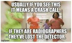 Radiology humor, xray, lost detector