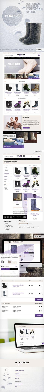 Online shop boats. Интернет-магазин валенок.Web design, веб дизайн, e-commerce