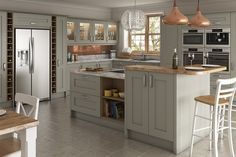 See our range of Shaker Grey Kitchens & kitchen units. All of our Shaker Grey Kitchens & kitchen units are available at trade prices. Kitchen Paint, Kitchen Redo, Living Room Kitchen, Kitchen Ideas, Shaker Kitchen Doors, Kitchen Units, Kitchen Utensils Store, Kitchen Sale, Stylish Kitchen