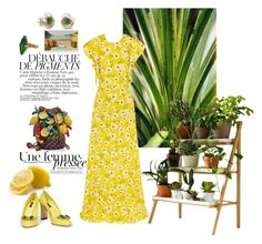 """""""🍋"""" by huyennn ❤ liked on Polyvore featuring Rochas, Kekkilä, Vintage, Jamin Puech, Dolce&Gabbana and jared"""