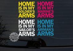 Custom Military Car Decal, Army, Air Force, Navy, Marines, Coast Guard, Wife, Mom, Girlfriend, Sister