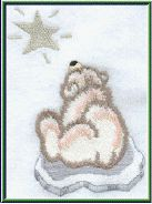 Threadsketches' set Chance of Snow - Christmas machine embroidery design, polar bear