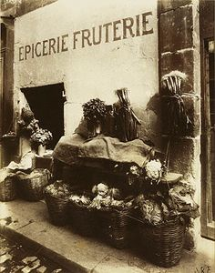 rue Maître-Albert Eugène Atget (French, Libourne Paris) Date: 1912 Medium: Gelatin silver print from glass negative Eugene Atget, Old Paris, Vintage Paris, Paris Bistro, Paris Cafe, Rue De Sevres, Berenice Abbott, Getty Museum, French Photographers
