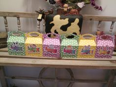 Cute Animal Pilot Gable Favor Boxes Set of 12 by zbrown5 on Etsy, $12.00
