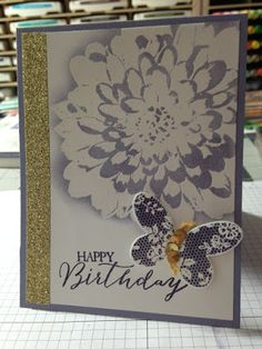"Stampin' in the Sun: Emboss Resist using ""Definitely Dahlia"""