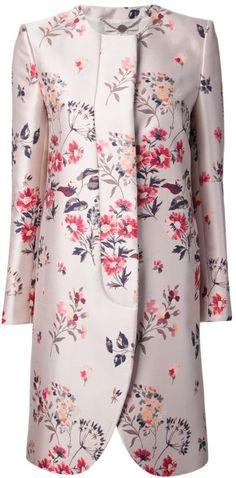 Floral Print Coat - Lyst