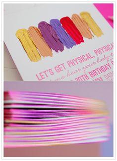 colorful birthday invite by @edytaphoto & @Hello!Lucky   Eunice & Sabrina Moyle