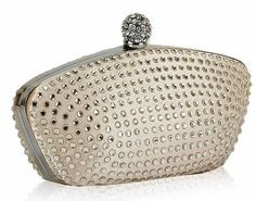 Diamante Encrusted Clutch Nude, Pink, Blue, silver, Black by Debs Dresses at ELLIOTT CHAMBERS - DUBLIN  14  Tel 01 2108670 Blue And Silver, Pink Blue, Beautiful Party Dresses, Deb Dresses, Sparkles Glitter, Barbie Dress, Coin Purse, Wallet, Stuff To Buy