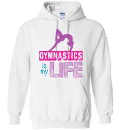 Golly Girls: Gymnastics Is My Life Gildan Heavy Blend Hoodie Gymnastics Wallpaper, Gymnastics Room, Gymnastics Suits, Olympic Gymnastics, Gymnastics Leotards, Gymnastics Things, Gymnastics Clothes, Gymnastics Supplies, Gymnastics Funny