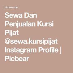 Sewa Dan Penjualan Kursi Pijat @sewa.kursipijat Instagram Profile | Picbear