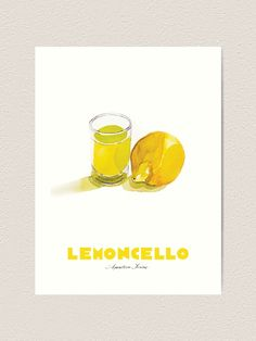 Limoncello Cocktails, Thing 1, Large Prints, Hand Painted, Creative, Artwork, Art Print, Walls, Kitchen