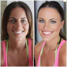 Pretty bridesmaid before/after by Gina Petersen @ Sugar and Spice salon and spa
